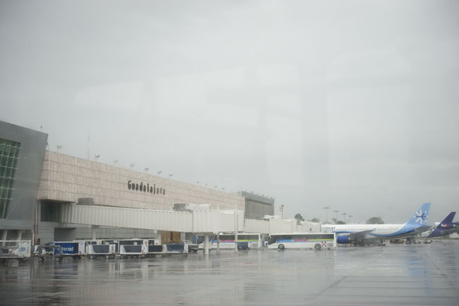 Guadalajara Airport during Tropical storm Jova