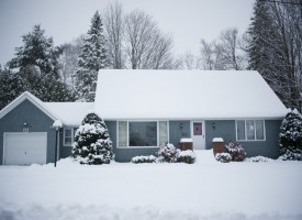 House in the Snow, Montpelier Vermont