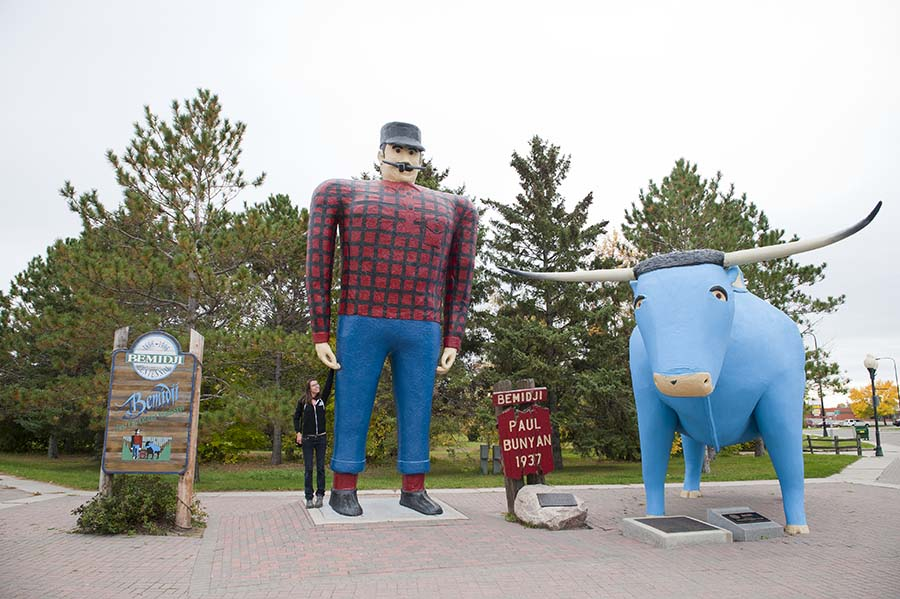 Paul Bunyan and Babe in Bemidji