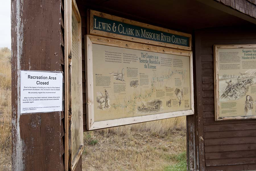 Town of Fort Peck, MT. Parks closed due to government shutdown. We toured around anyway...