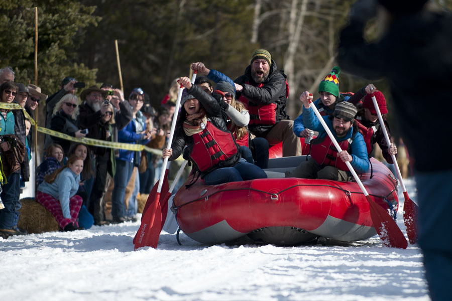 Cabin Fever Days - Barstool Race, Martin City, Feb. 15, 2014
